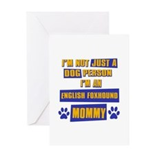 English Foxhound Mommy Greeting Card