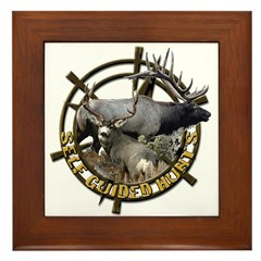Self guided hunts Framed Tile