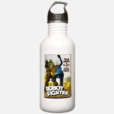 Robot Fighter Fake Pulp Cover Water Bottle