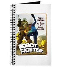 Robot Fighter Fake Pulp Cover Journal