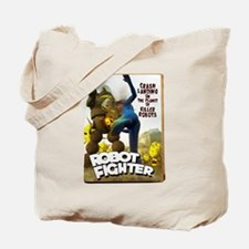 Robot Fighter Fake Pulp Cover Tote Bag