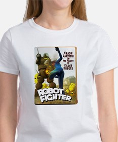 Robot Fighter Fake Pulp Cover Women's T-Shirt