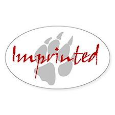 Imprinted Jacob Black Sticker (Oval)
