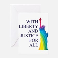 RAINBOW LIBERTY Greeting Card