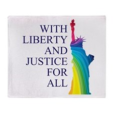 RAINBOW LIBERTY Throw Blanket