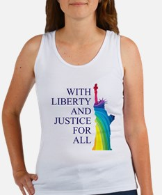 RAINBOW LIBERTY Women's Tank Top
