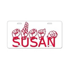 Susan Aluminum License Plate