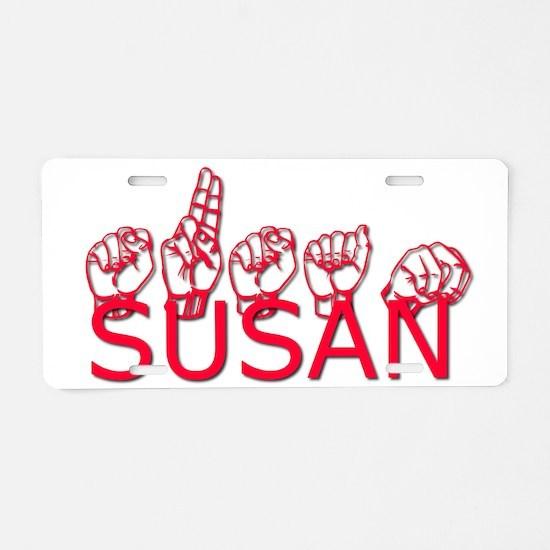 Susan Aluminum License Plate
