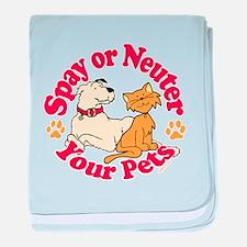 Spay/Neuter Circle (Pets) baby blanket