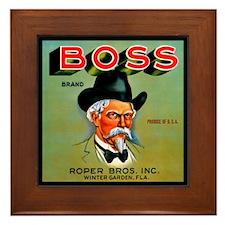 Boss Brand Vintage Label Framed Tile