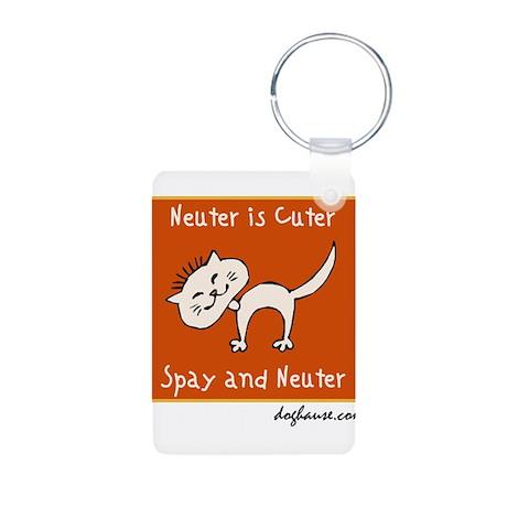 Neuter Is Cuter Aluminum Photo Keychain