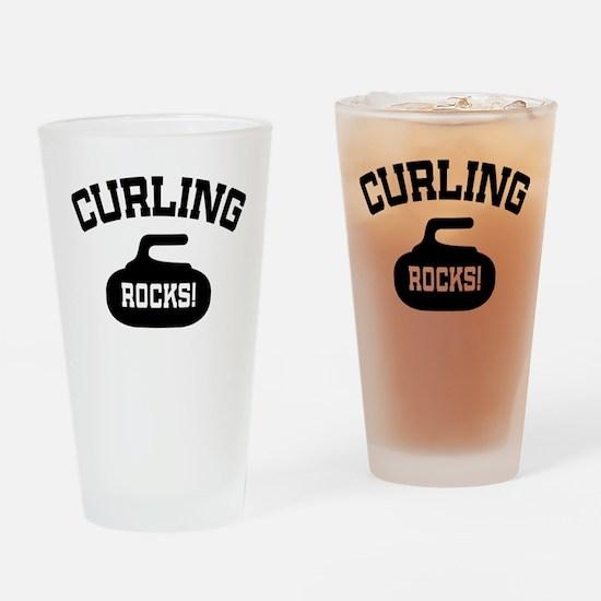 Curling Rocks! Pint Glass