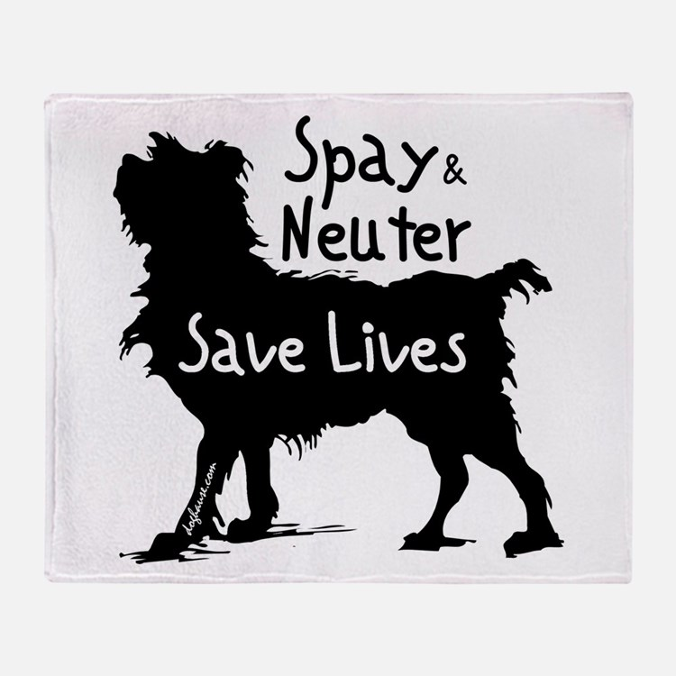 Save Lives (Dog) Throw Blanket