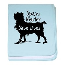 Save Lives (Dog) baby blanket