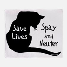 Save Lives (Cat) Throw Blanket