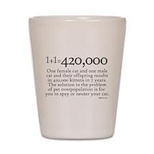 420,000 Cat Overpopulation Shot Glass