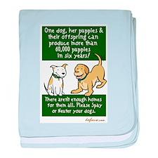 Sixty Thousand Dogs - Spay Ne baby blanket