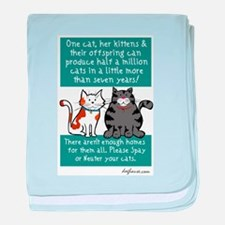 Half a Million Cats - Spay Ne baby blanket