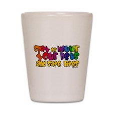 Spay Neuter Rainbow Shot Glass