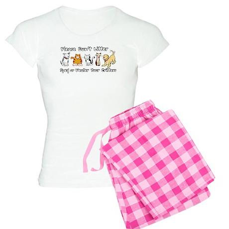 Don't Litter - Spay or Neuter Women's Light Pajama