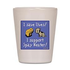 I Save Lives! Spay & Neuter Shot Glass
