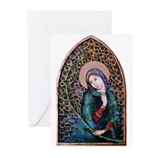 Blessed Virgin Mary 3 Greeting Cards (Pk of 10)
