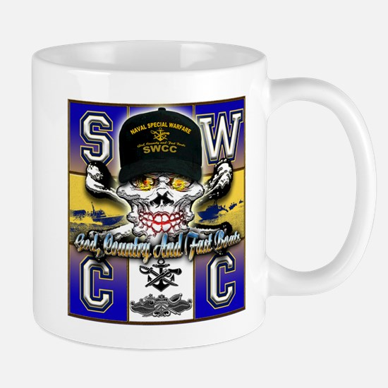 USN SWCC Skull & Bones Mug