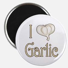 I heart garlic Magnet
