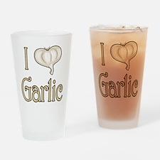 I heart garlic Pint Glass