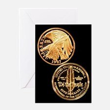 Constitution Commemorative Gold Five Greeting Card