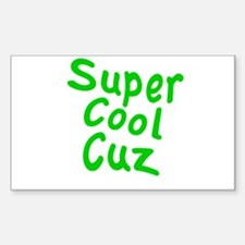 Super Cool Cuz Sticker (Rectangle)