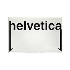 Helvetica Rectangle Magnet