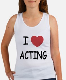 I heart acting Women's Tank Top