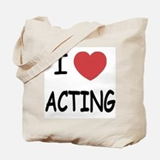 I heart acting Tote Bag
