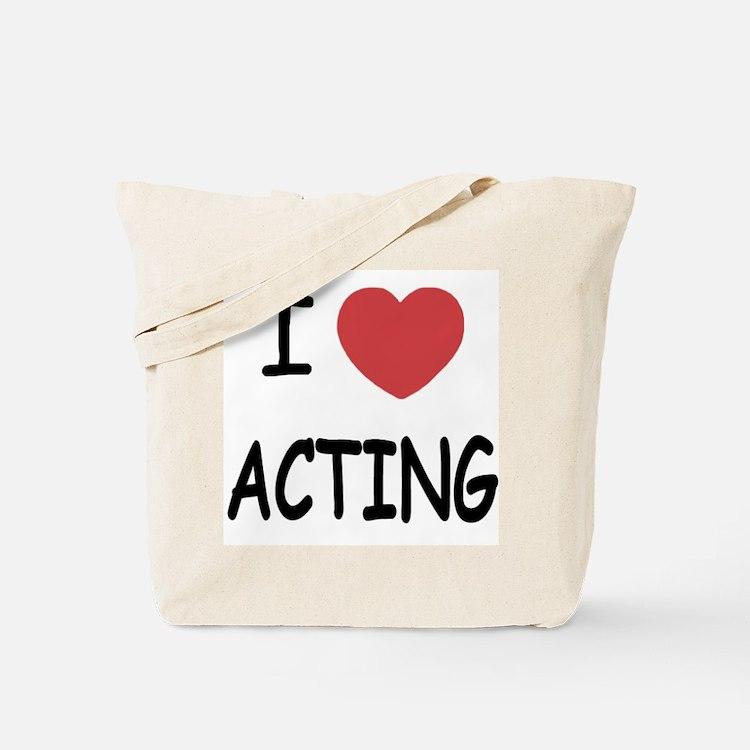 I heart acting Tote Bag