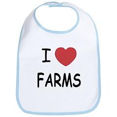 I heart farms Bib