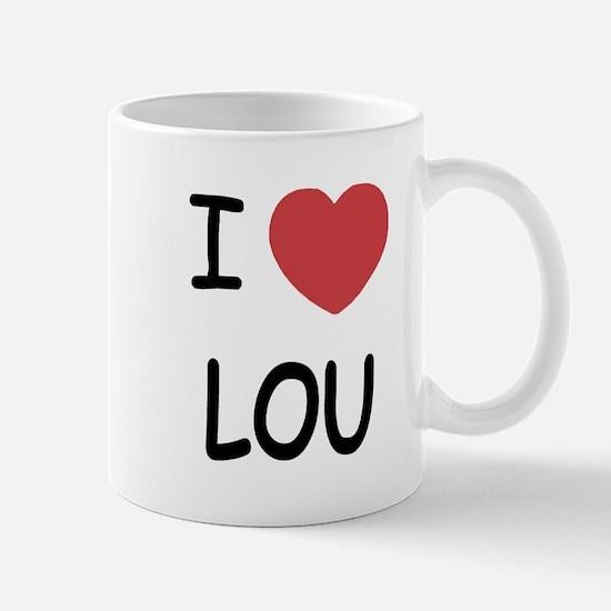I heart lou Mug