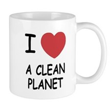 I heart a clean planet Mug