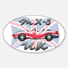 MX-5 UK MK II Sticker (Oval)