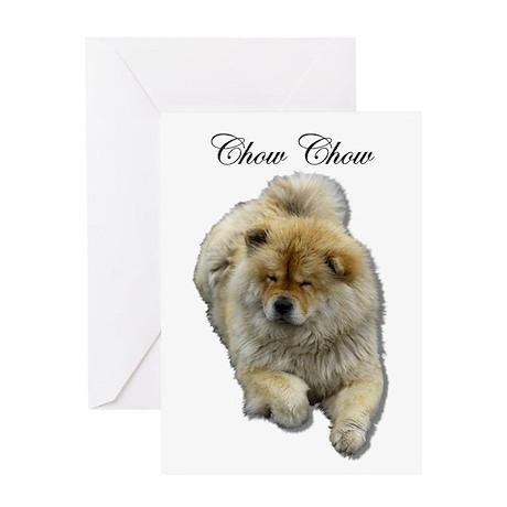 Chow Chow Dog Greeting Card