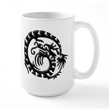Black Tribal Dragon Mug