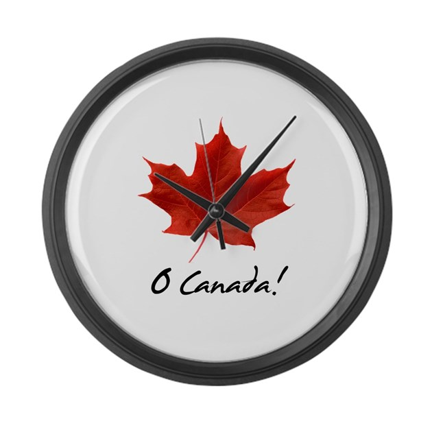 large wall clock by robwilliams o canada sugar maple red