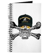 USN Seabees Skull Journal