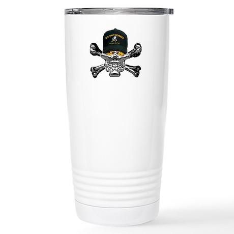 USN Seabees Skull Stainless Steel Travel Mug