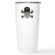 USN Seabees Skull Travel Coffee Mug