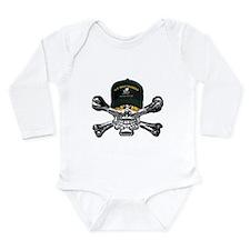 USN Seabees Skull Long Sleeve Infant Bodysuit