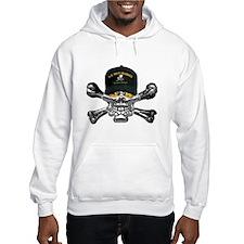 USN Seabees Skull Hoodie