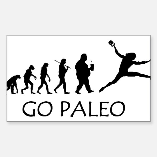 Go Paleo Sticker (Rectangle)