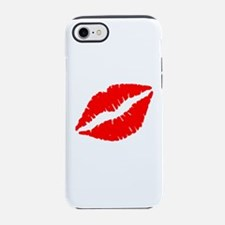 Red Lips Kiss iPhone 7 Tough Case