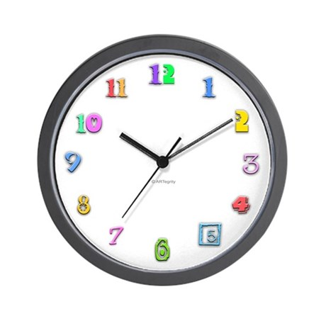 Colorful Numbers Wall Clock